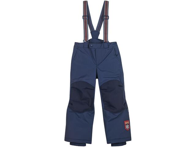 Finkid Romppa Plus Pantalones Invierno Reforzados con Tirantes Desmontables Niños, navy